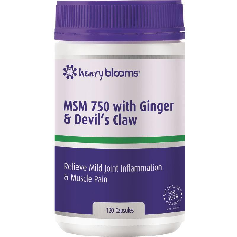 Buy Blooms MSM 750 with Ginger 1000mg & Devils Claw 120 Vegetarian