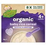 Raffertys Garden 4+ Months Organic Rice Cereal 8 x10g Single Serve