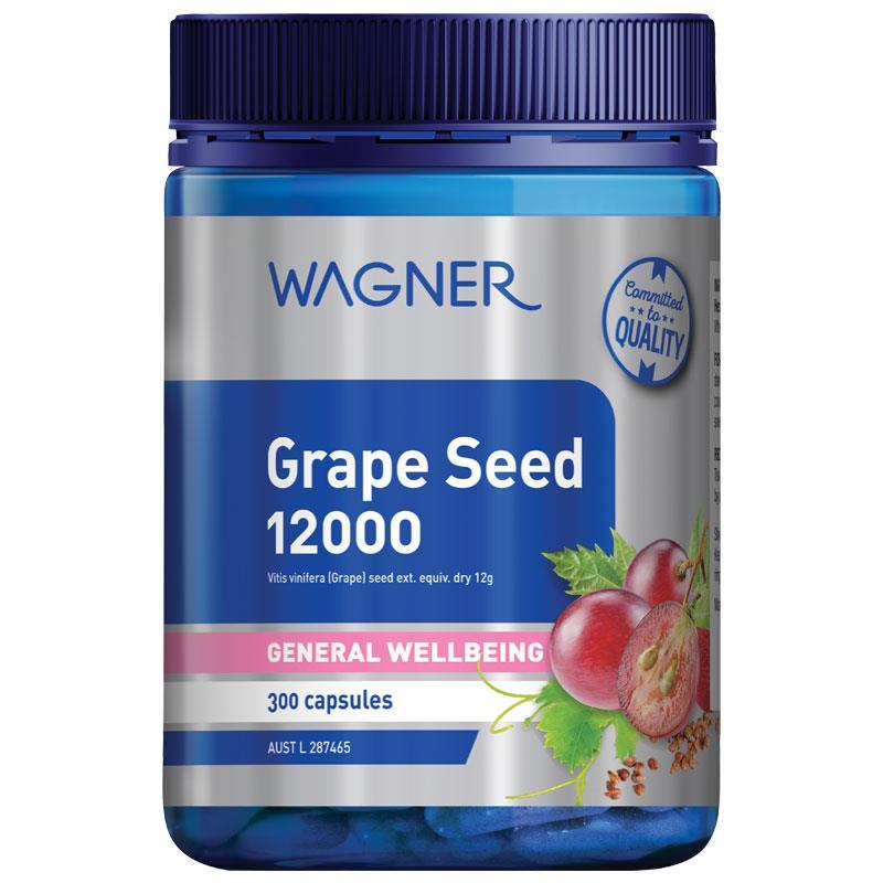 Wagner Grapeseed 12000 300 Capsules at Chemist Warehouse in Campbellfield, VIC | Tuggl