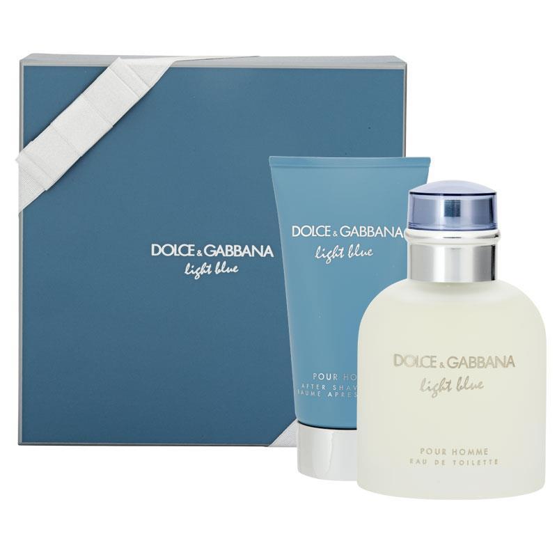 8e687f215850b2 Dolce   Gabbana for Men Light Blue Pour Homme Eau de Toilette 75ml 2 Piece  Set