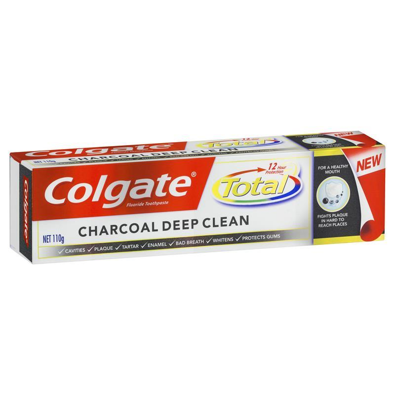 Colgate Toothpaste Total Charcoal 110g at Chemist Warehouse in Campbellfield, VIC | Tuggl