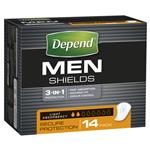Depend Shields 14 Pack