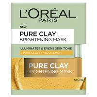 L'oreal Paris Pure Clay Bright Mask 50ml by L'oreal Paris Cleansing