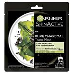 Garnier Pure Charcoal Tissue Mask with Black Algae Hydrating & Pore Refining