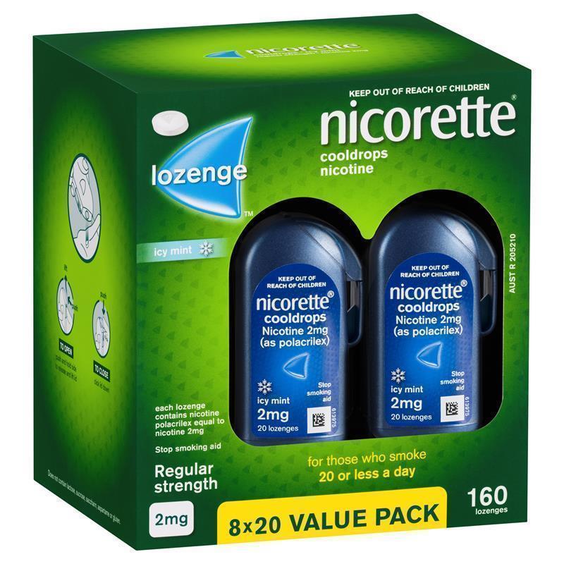 Buy Nicorette Quit Smoking Cooldrops Lozenges Regular