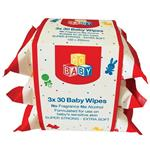 Go Baby Baby Wipes 3x30 Pack