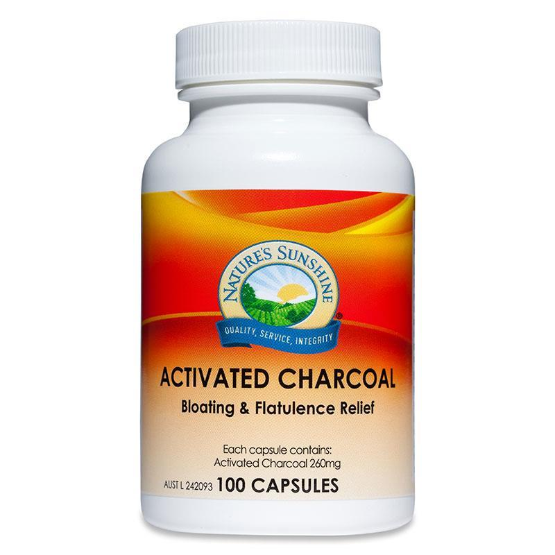 Natures Sunshine Activated Charcoal 260mg 100 Capsules at Chemist Warehouse in Campbellfield, VIC | Tuggl