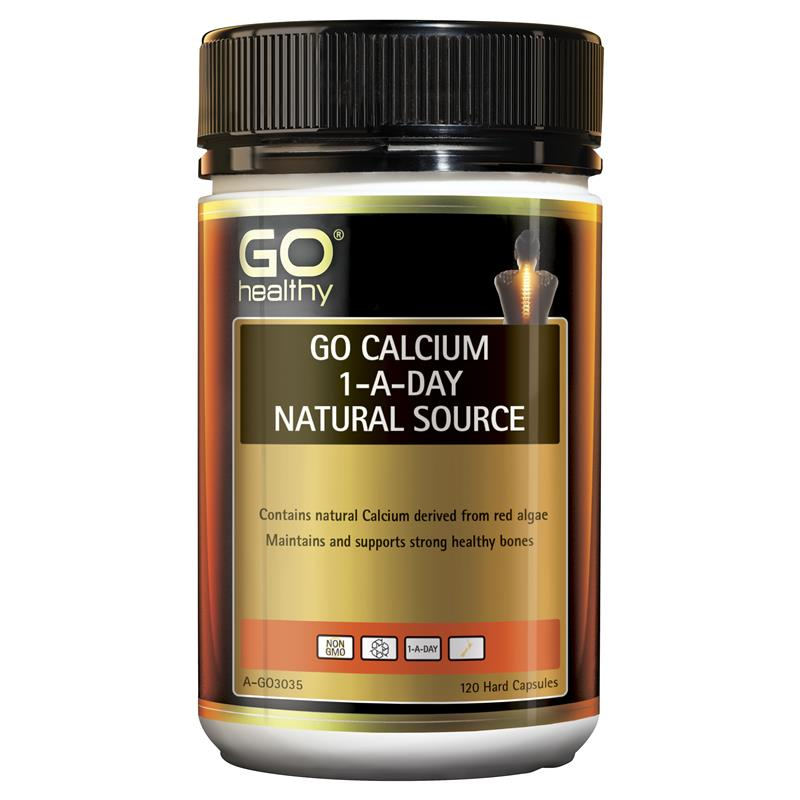 Buy GO Healthy Calcium 1 A Day 120 Capsules Online at ...