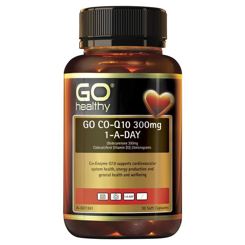Buy GO Healthy CoQ10 300mg + Vitamin D3 1000IU 30 Capsules ...