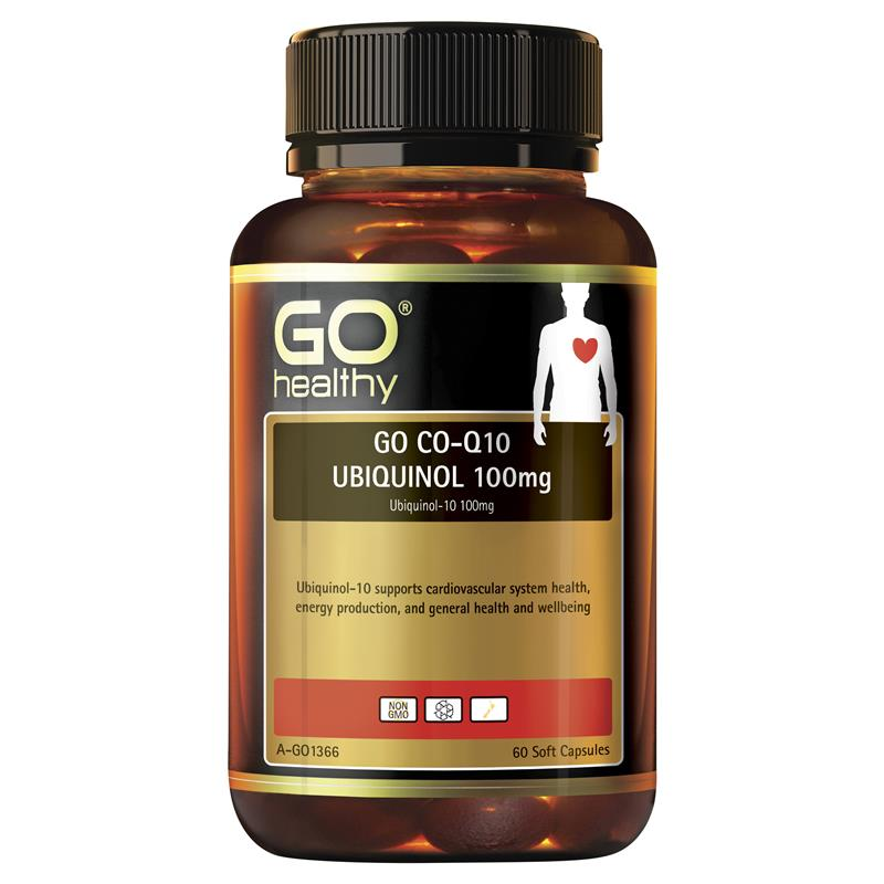 GO Healthy CoQ10 Ubiquinol 100mg 60 Capsules at Chemist Warehouse in Campbellfield, VIC | Tuggl