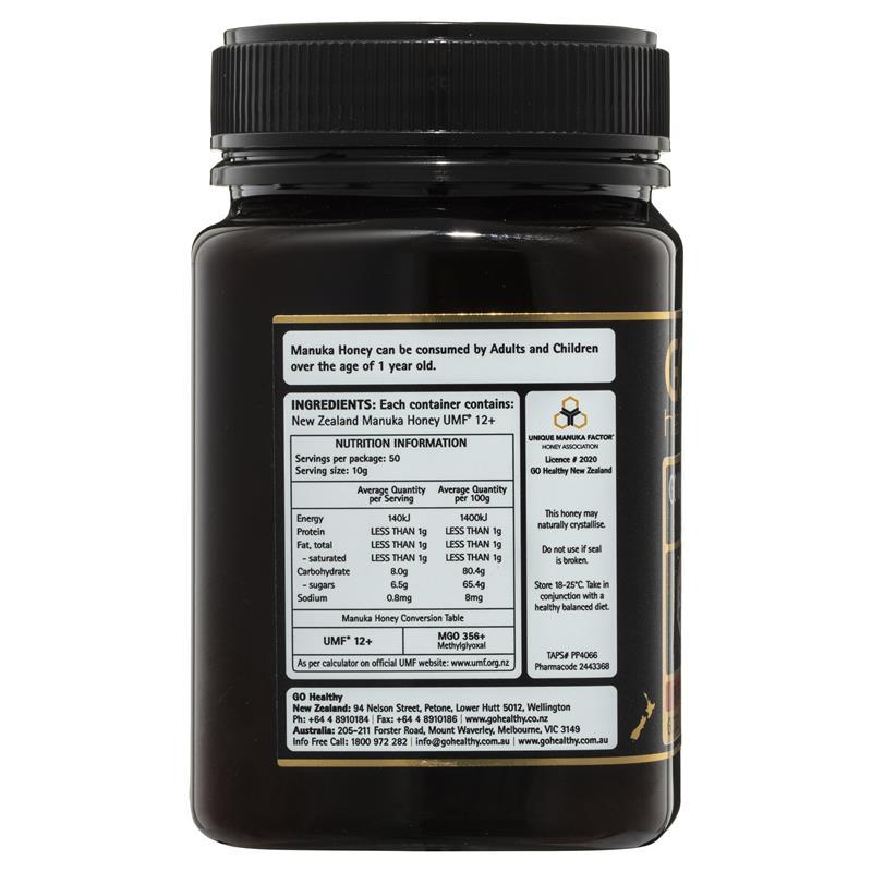 Buy GO Healthy Manuka Honey UMF 12+ (MGO 350+) 500gm (Not