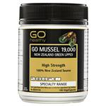 GO Healthy Mussel 750mg NZ Green Lipped 180 Vege Capsules