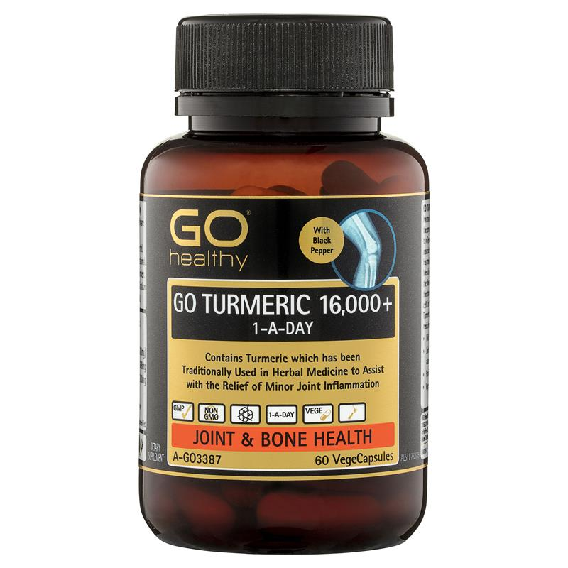 Buy GO Healthy Turmeric 16000+ 1 A Day 60 Capsules Online ...