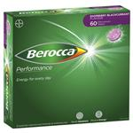 Berocca Energy Vitamin Raspberry Blackcurrant Effervescent Tablets 60 pack Exclusive Size