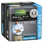 Depend Men Real Fit Underwear Medium 16 Bulk Pack