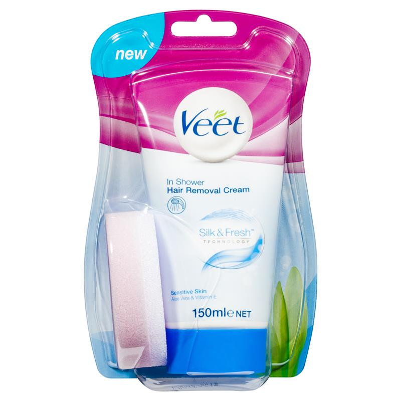Buy Veet In Shower Hair Removal Cream Sensitive 150ml Online At