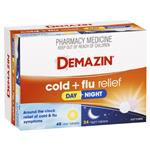 Demazin Cold & Flu Relief Day + Night 72 Tablets