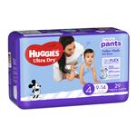 Huggies Ultra Dry Nappy Pants Size 4 9-14kg Boy 29 Pack