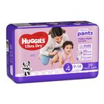Huggies Ultra Dry Nappy Pants Size 4 9-14kg Girl 29 Pack