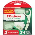 Plackers Dental Flossers On The Go 24 Pack
