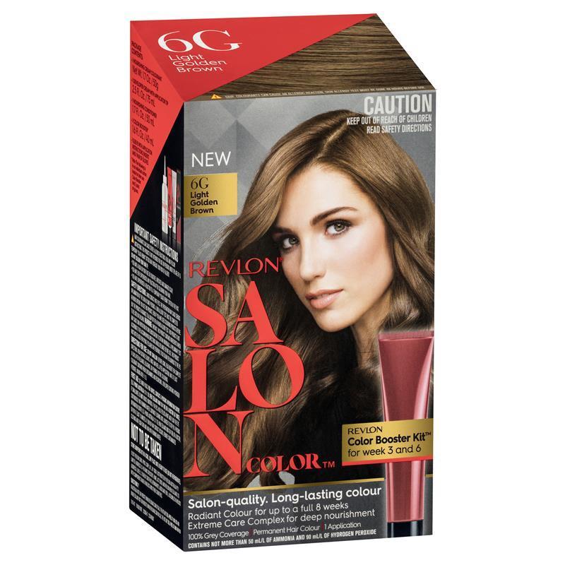 Buy Revlon Salon Hair Color 6g Light Golden Brown Online At Chemist