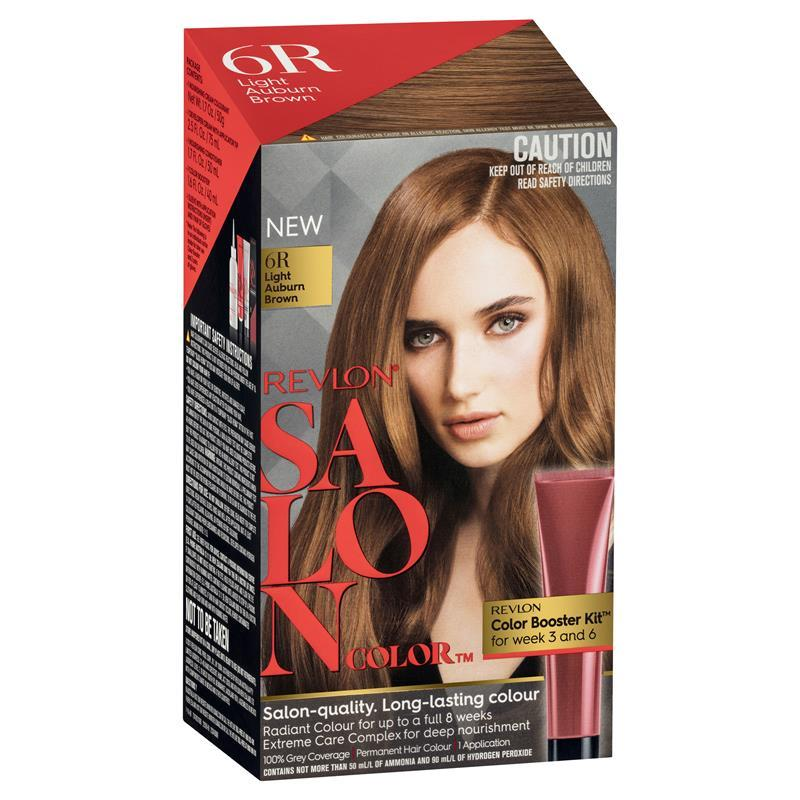 Buy Revlon Salon Hair Color 6r Light Auburn Brown Online At Chemist