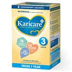 Karicare+ 3 Toddler Growing Up Milk From 1 Year Sachets  4x36.4G
