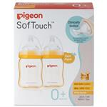 Pigeon SofTouch Peristaltic Plus PPSU Bottle 160ml Twin Pack
