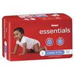 Huggies Essentials Size 3 6-11kg 52 Nappies