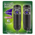 Nicorette Quit Smoking QuickMist Mouth Spray Cool Berry Duo 150 Sprays (13.2mL x 2)
