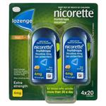 Nicorette Quit Smoking Cooldrops Fresh Fruit Lozenges 4mg 80 Pieces