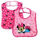 Minnie Mouse Cotton Bib 2 Pack