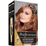L'Oreal Paris Preference Permanent Hair Colour - 7.23 Dark Rose Gold (Intense, fade-defying colour)