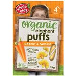Whole Kids Organic Elephant Puffs Carrot & Parsnip 24g 4 Pack