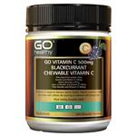 GO Healthy Vita-C 500mg Blackcurrant 200 Chewable