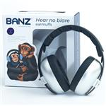 Banz Ear Muffs Mini 3+ Months to 2 Years Silver Online Only