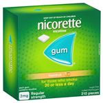 Nicorette Quit Smoking Nicotine Gum Freshfruit Regular Strength 210 Pack