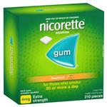 Nicorette Quit Smoking Nicotine Gum Freshfruit 4mg Extra Strength 210 Pack