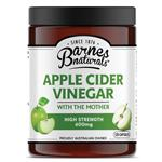 Barnes Naturals Apple Cider Vinegar with The Mother 600mg 120 Capsules