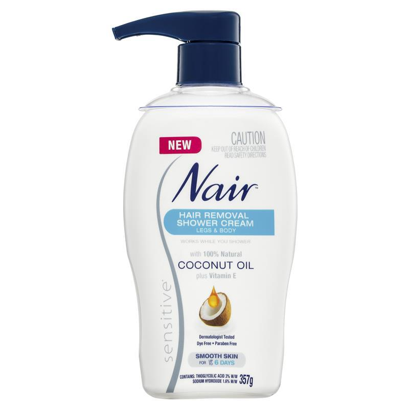 Buy Nair Sensitive Hair Removal Shower Cream With Coconut Oil 357g