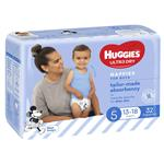 Huggies Ultra Dry Nappies Size 5 Boy 13-18kg Bulk 32 Pack
