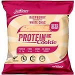 Justine's Raspberry White Choc Chip Protein Cookie 64g Online Only