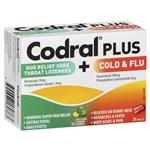 Codral Plus Sore Throat 16 Lozenges & Cold and Flu + Decongestant 20 Tablets