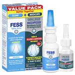 Fess Saline Spray 30ml + MediFess Allergy 140 Sprays Value Pack