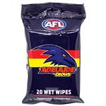 AFL Wet Wipes Adelaide Crows 20 Pack