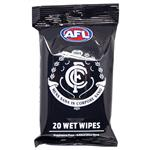 AFL Wet Wipes Carlton Blues 20 Pack