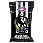 AFL Wet Wipes Collingwood Magpies 20 Pack