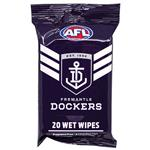 AFL Wet Wipes Fremantle Dockers 20 Pack