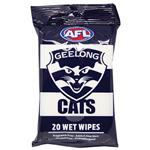 AFL Wet Wipes Geelong Cats 20 Pack