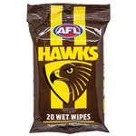 AFL Wet Wipes Hawthorn Hawks 20 Pack